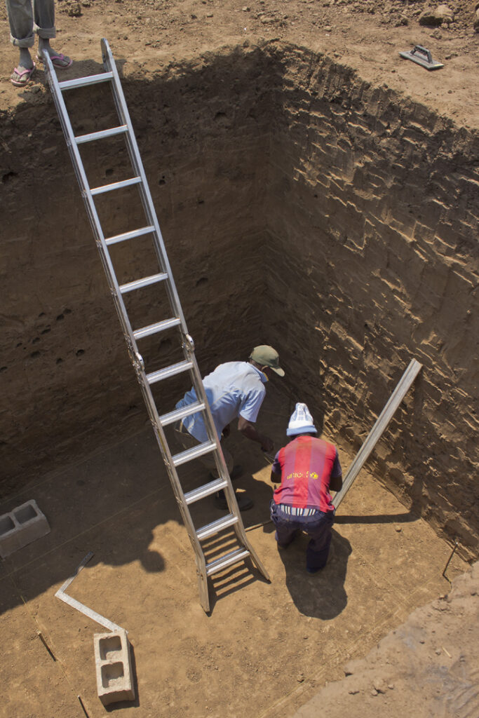 Digging latrine