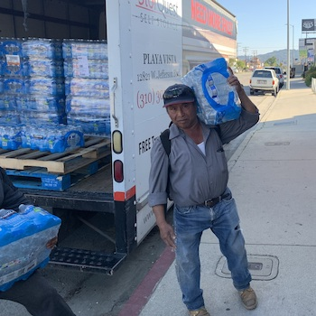 Delivering water